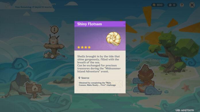 Comment collecter Shiny Flotsam dans Genshin Impact