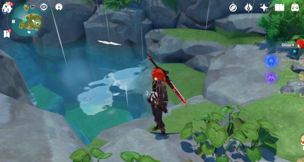 Genshin Impact Broken Isle Puzzle Solution West Pond