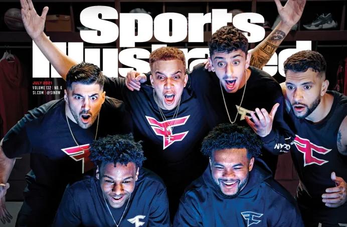 FaZe Clan en couverture de Sports Illustrated