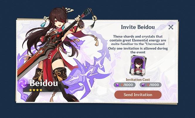Récompenses Genshin Impact Thunder Sojourn