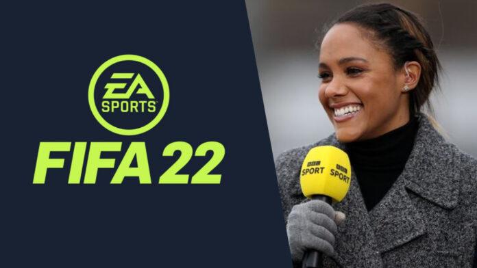 Alex Scott entre dans l'histoire en tant que première femme commentatrice de la série FIFA