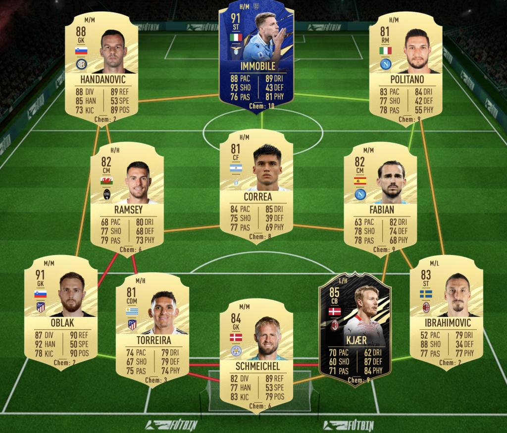 FIFA21AllanFUTTIESSBCPremierLeagueSolution