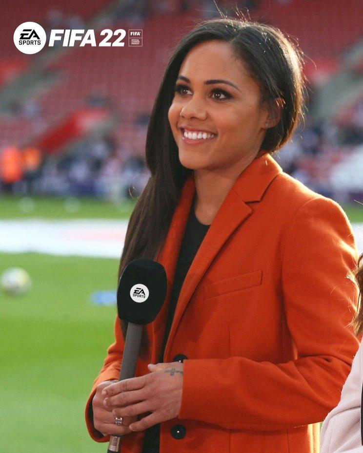 alex scott fifa 22 présente la première commentatrice de voix féminine