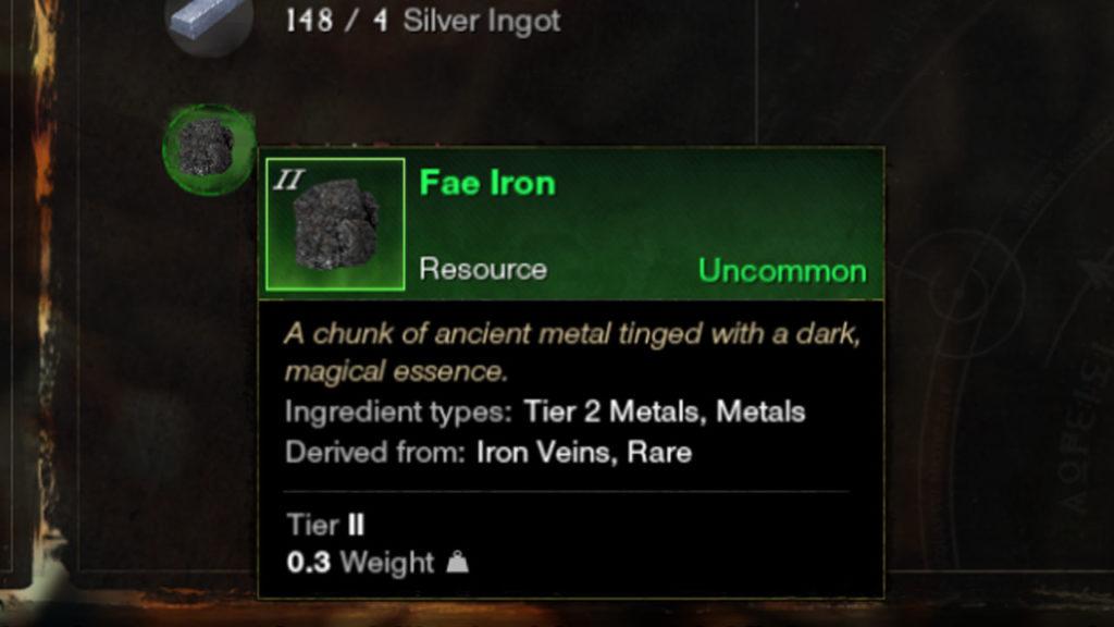 Où trouver du fer Fae dans le Nouveau Monde