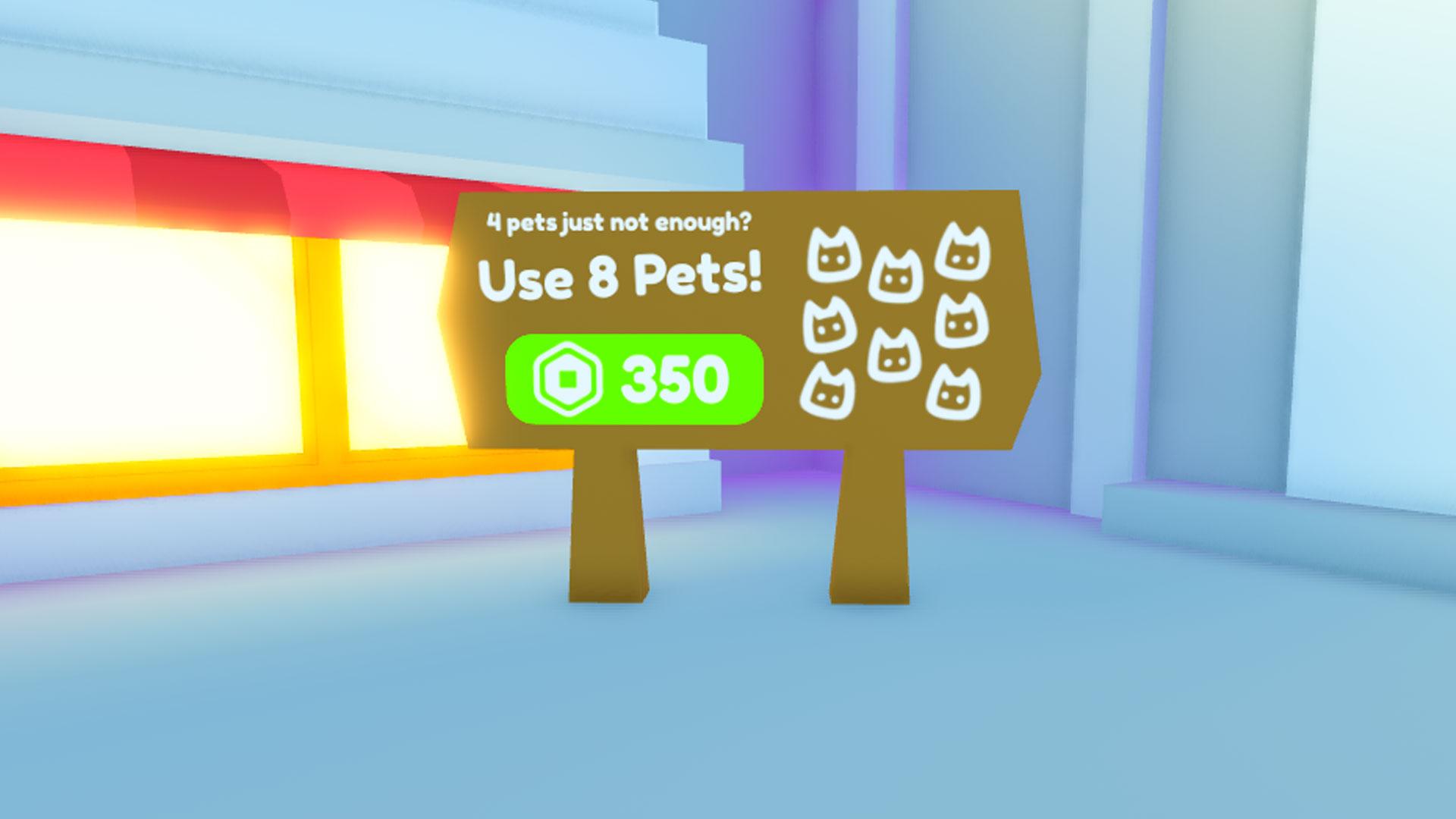 Pet Simulator X - Pass de jeu équipé de 8 animaux