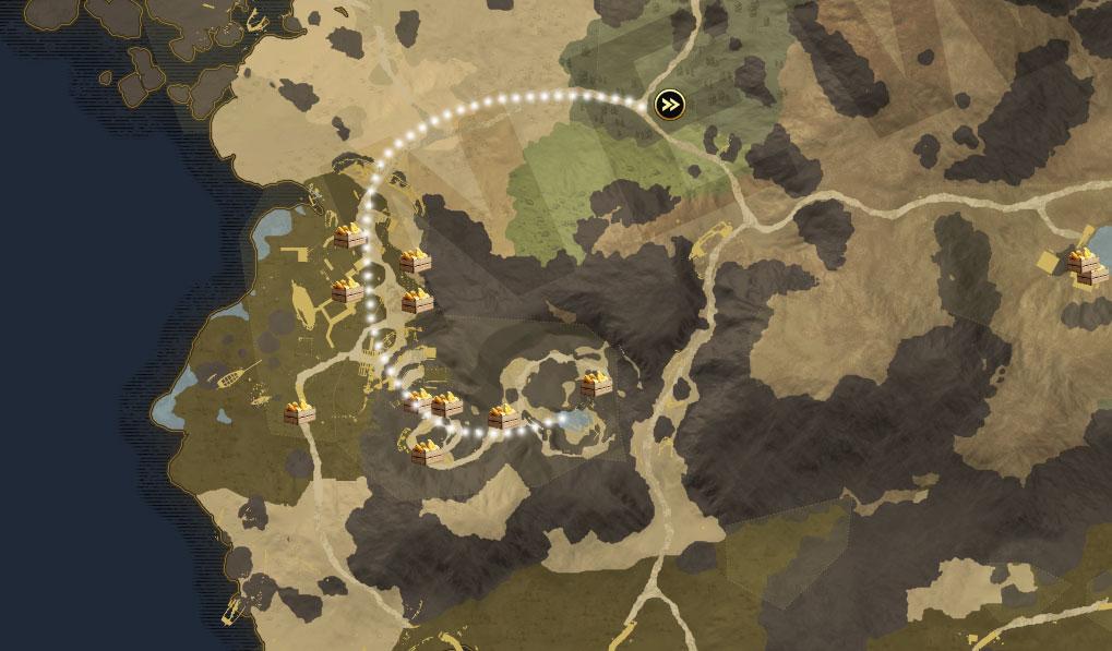 Caisses de provisions de Deadman's Cove Bluffs du nouveau monde Monarch