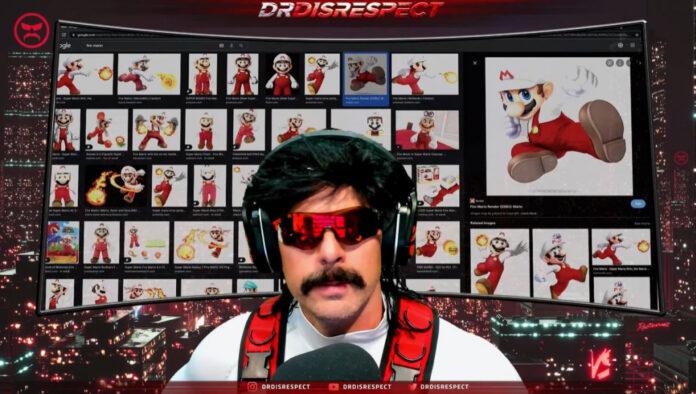Dr Disrespect se fait rôtir par les fans pour ressembler à Fire Mario